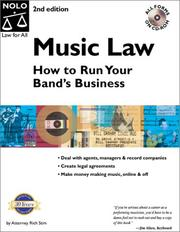 Cover of: Music law | Richard Stim
