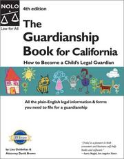 Cover of: The guardianship book for California | Lisa Goldoftas