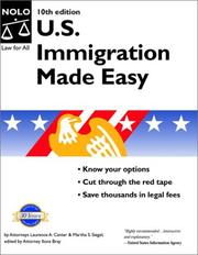 Cover of: U.S. Immigration Made Easy (U S Immigration Made Easy) | Laurence A. Canter, Martha S. Siegel