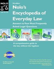 Cover of: Nolo's encyclopedia of everyday law |