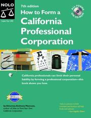 Cover of: How to form a California professional corporation