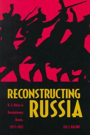 Cover of: Reconstructing Russia