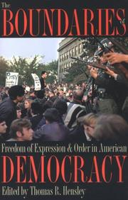 Cover of: The Boundaries of Freedom of Expression & Order in American Democracy