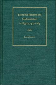 Cover of: Economic reforms and modernization in Nigeria, 1945-1965