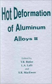 Cover of: Hot Deformation of Aluminum Alloys 2 |