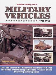 Cover of: Standard catalog of U.S. military vehicles, 1940-1965