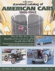 Cover of: Standard catalog of American cars, 1805-1942