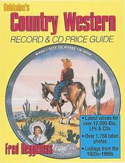 Cover of: Goldmine country western record & CD price guide