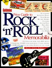 Cover of: Goldmine price guide to rock 'n' roll memorabilia