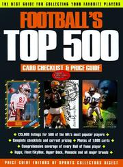 Cover of: Football's Top 500 Card Checklist & Price Guide