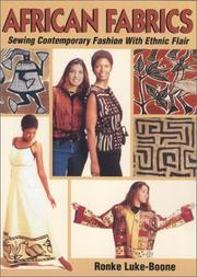 Cover of: African Fabrics: Sewing Contemporary Fashion With Ethnic Flair