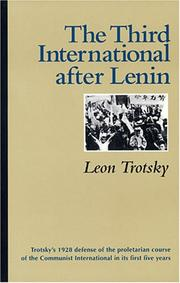 Cover of: The Third International after Lenin
