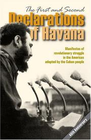 Cover of: The First and Second Declarations of Havana | Mary-Alice Waters