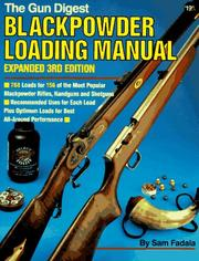 Cover of: Blackpowder Loading Manual (Gun Digest Blackpowder Loading Manual)