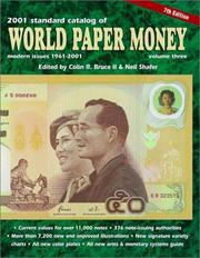 Cover of: Standard Catalog of World Paper Money, Modern Issues 1961-2000 | Colin R. II Bruce