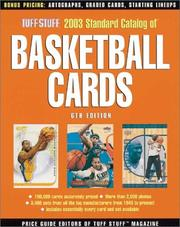 Cover of: Tuff Stuff 2003 Standard Catalog of Basketball Cards