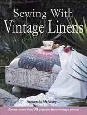 Cover of: Sewing With Vintage Linens