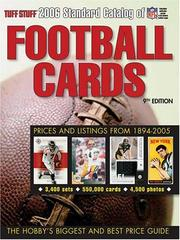 Cover of: Tuff Stuff Standard Catalog Of Football Cards
