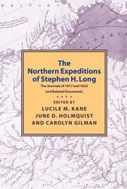 Cover of: Northern Expeditions of Stephen Long