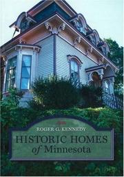 Cover of: Historic homes of Minnesota
