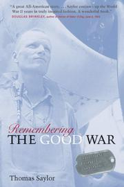 Cover of: Remembering the Good War