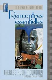 Cover of: Rencontres Essentielles (Mla Texts and Translations, 10)