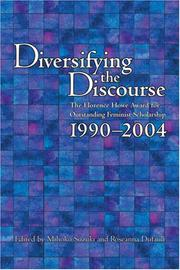 Cover of: Diversifying the Discourse |