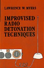 Cover of: Improvised radio detonation techniques