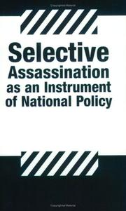 Cover of: Selective Assassination As an Instrument of National Policy