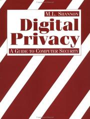 Cover of: Digital Privacy
