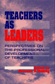 Cover of: Teachers as leaders |
