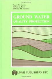 Cover of: Ground Water Quality Protection