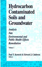 Cover of: Hydrocarbon Contaminated Soils and Groundwater
