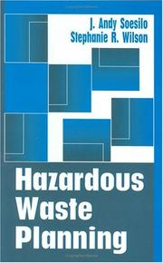 Cover of: Hazardous waste planning