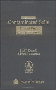 Cover of: Contaminated soils |