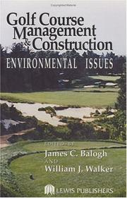 Cover of: Golf course management & construction |