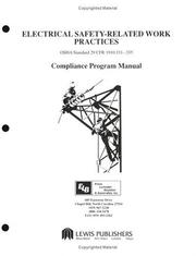 Cover of: Electrical Safety-Related Work Practices