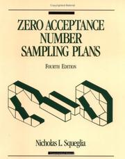 Cover of: Zero acceptance number sampling plans by Nicholas L. Squeglia