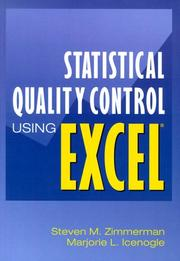 Cover of: Statistical quality control using Excel