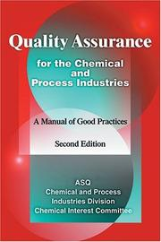 Cover of: Quality assurance for the chemical and process industries |