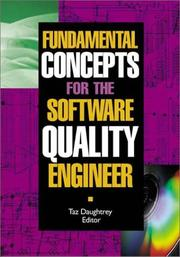 Cover of: Fundamental Concepts for the Software Quality Engineer | Taz Daughtrey