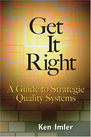 Cover of: Get It Right