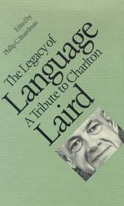 Cover of: The Legacy of Language a Tribute to Charlton Laird