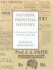 Cover of: Nevada Printing History