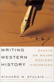 Cover of: Writing Western History