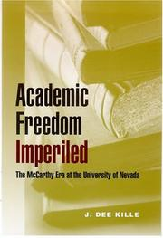 Cover of: Academic Freedom Imperiled