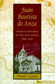 Cover of: Juan Bautista De Anza