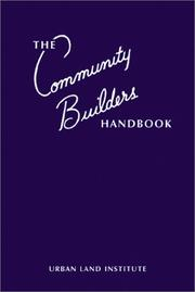 Cover of: The Community Builders Handbook