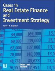 Cover of: Cases in real estate finance and investment strategy