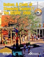 Cover of: Dollars & Cents of Shopping Centers/The SCORE 2006 (Dollars and Cents of Shopping Centers) | Anita Kramer